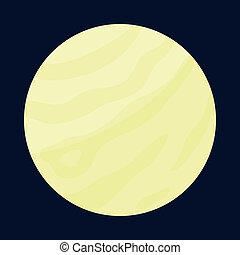Planet icon, cartoon style - Planet icon in cartoon style...