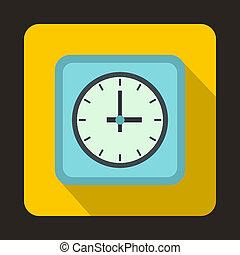 Watch icon, flat style - Watch icon in flat style for any...