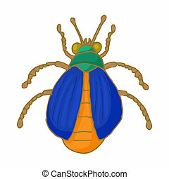Insect bug icon, cartoon style - Insect bug icon in cartoon...