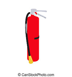 Fire extinguisher icon, cartoon style - icon in cartoon...