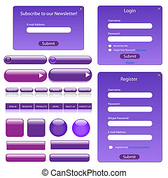 Purple Web Template - Purple web template with forms, bars...