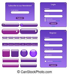 Purple Web Template