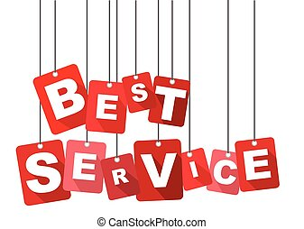 best service, red vector best service, flat vector best...