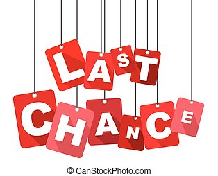 last chance, red vector last chance, flat vector last...