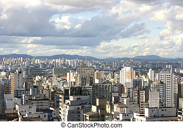 Skyline of Sao Paulo - Skyline view from Higienopolis, Sao...