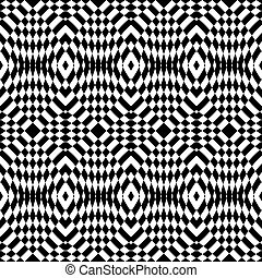 Design seamless monochrome checkered pattern. Abstract...