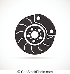 Brake Disc icon - Brake Disc with caliper icon Car repair...