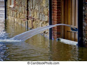 York flood water