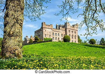 Hutton in the Forest, Cumbria, England - Green lawn in front...
