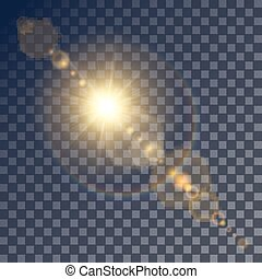Shining vector sun with light effects - Shining vector...