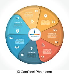 Business pie chart diagram data 7 - Template infographic...