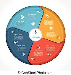 Business pie chart diagram data 4 - Template infographic...