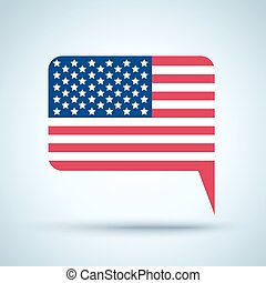 Icon with american flag