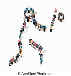 people sports baseball vector - Isometric set of styles,...
