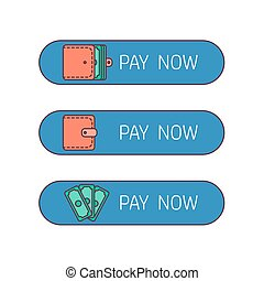 Web payment button - The process of payment. Rent, salary...