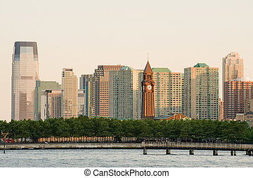 Hoboken clock tower - Hoboken terminal and Jersey city...