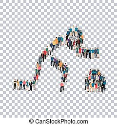 people sports curling vector - Isometric set of styles,...