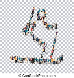 people sports biathlon vector - Isometric set of styles,...