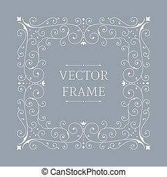 Elegant luxury floral frame.