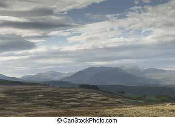 A view across mountains in Highland Perthshire