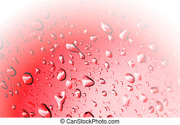 Red  background and drop water