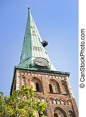 Architectural details of Saint Pyotrs church - cathedral...