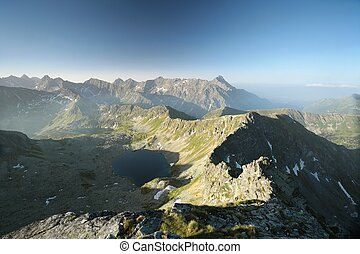 High Tatra Mountains - High peaks over the valley in Tatra...