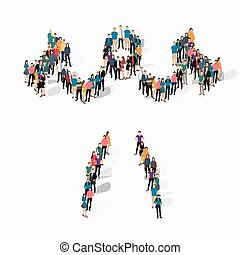 people sports body-building vector - Isometric set of...