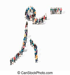 people sports shooting vector