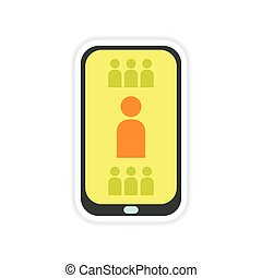 paper sticker on white background mobile phone telephone...