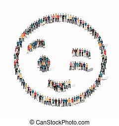 people emoticon smiley icon