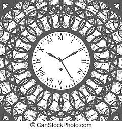 Clock with roman numerals - Isolated Vector Illustration