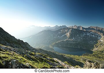 High Tatra Mountains - The peaks of the High Tatras in June...