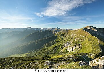 Western Tatra Mountains in the Polish Carpathians.