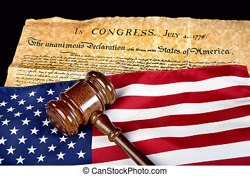 American Justice. - Declaration of Independence with...