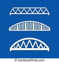 Bridges engineering grqphic. Vector illustration design