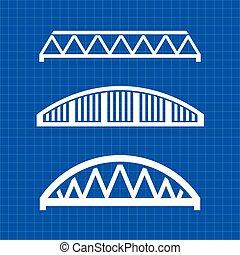 Bridges engineering grqphic. Vector illustration design