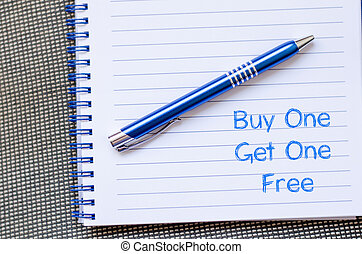 Buy one get one free write on notebook - Buy one get one...