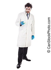 biologist with a petri dish - a doctor or researcher with a...