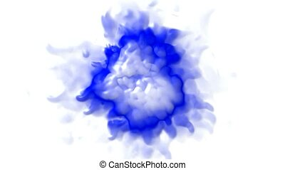 3d blue splash shape