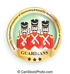 Guardians Badge - Sign, emblem, logo image with creative...