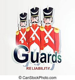 Guards - Creative vector illustration of logo or emblem...