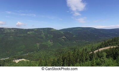 Czech landscape forests smooth footage