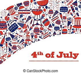 Background for 4th of July Independence Day  America