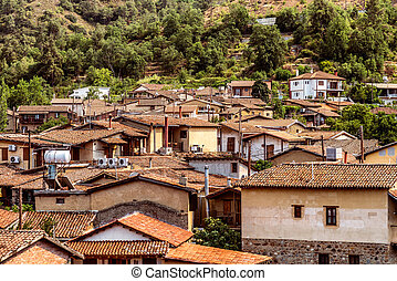 Kakopetria, famous picturesque village in Troodos Mountains. Cyprus