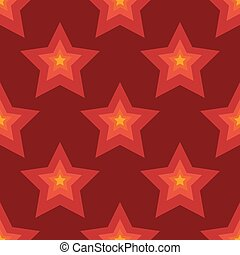 Seamless red stars background in vector