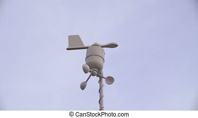Anemometer shows the wind direction