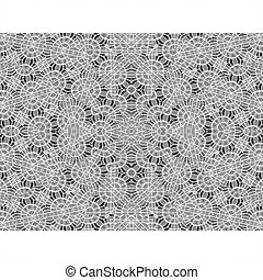 White Background with Oriental Design Borders - Stationery...