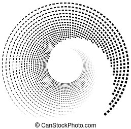 Inward spiral of rectangles. abstract geometric design...