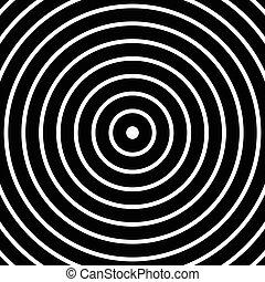círculos, Ilustración, Extracto, patrón, concéntrico,  monochrome-geometric